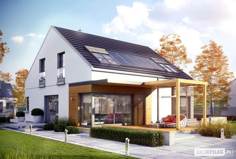Projekt domu Edgar II G2 ENERGO - wizualizacja ogrodowa