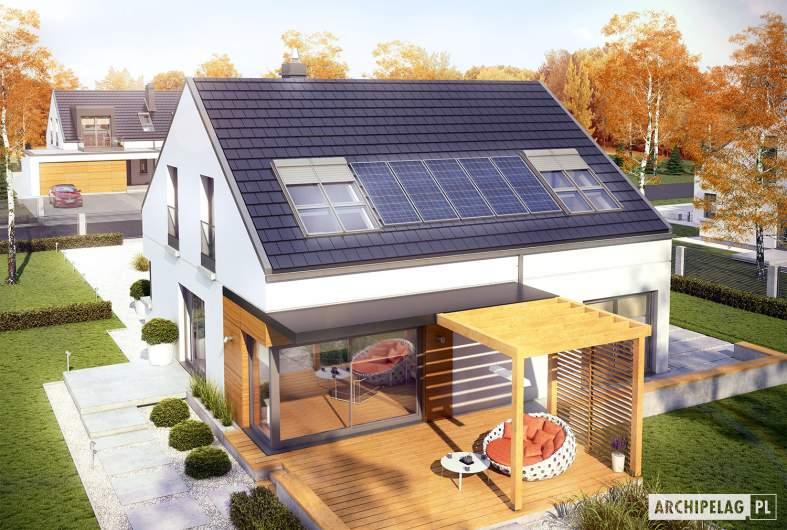 Projekt domu Edgar II G2 ENERGO - widok z góry