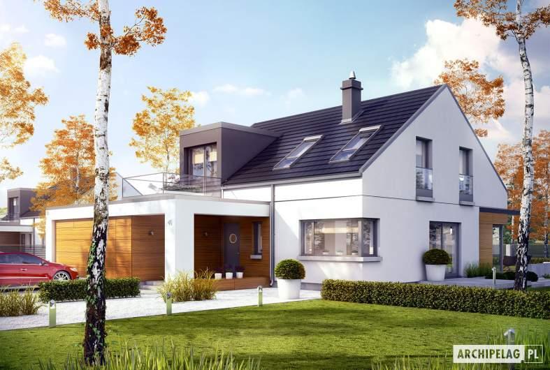 Projekt domu Edgar II G2 ENERGO - wizualizacja frontowa
