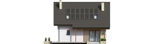 Projekt domu Oli II - elewacja tylna