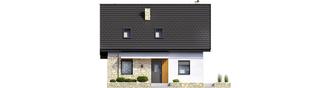 Projekt domu Oli II - elewacja frontowa