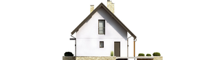 Projekt domu Oli II - elewacja prawa