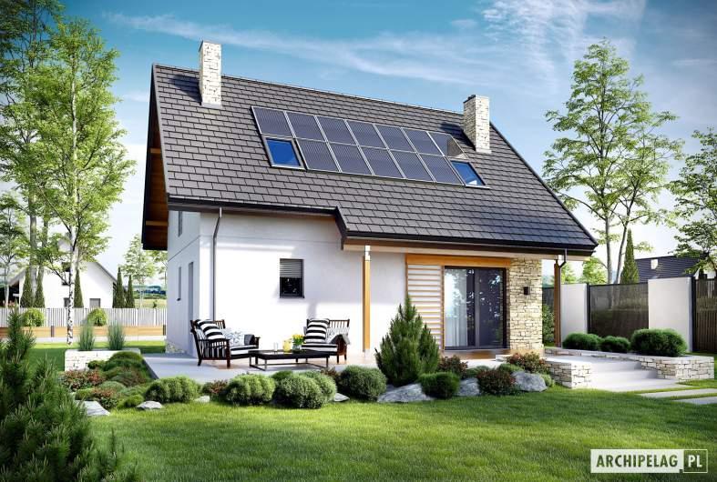 Projekt domu Oli II - wizualizacja ogrodowa