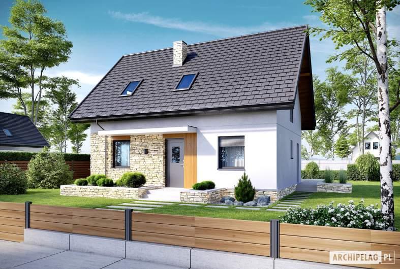 Projekt domu Oli II - wizualizacja frontowa