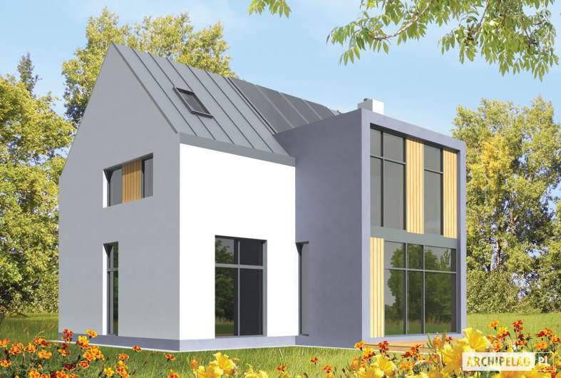 Projekt domu Blueberry - wizualizacja ogrodowa