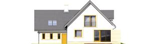 Projekt domu Edit II G1 - elewacja tylna