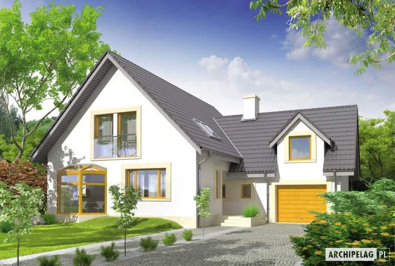 Projekt domu Edit II G1 - wizualizacja frontowa