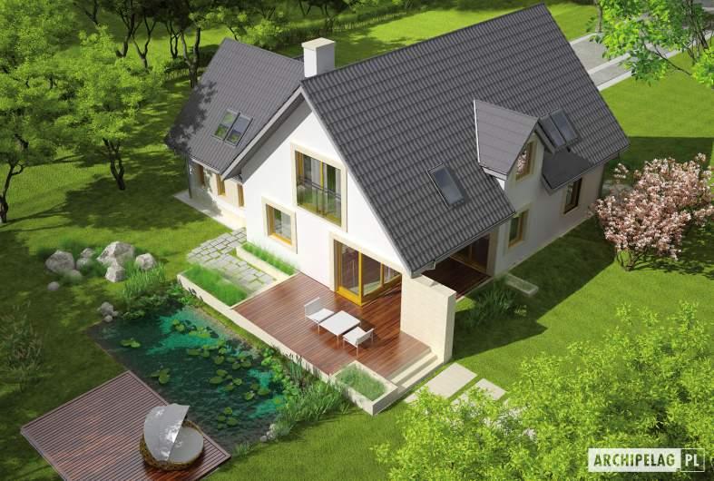 Projekt domu Edit II G1 - widok z góry