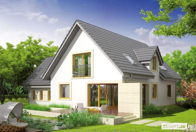 Projekt domu Edit II G1 - wizualizacja ogrodowa
