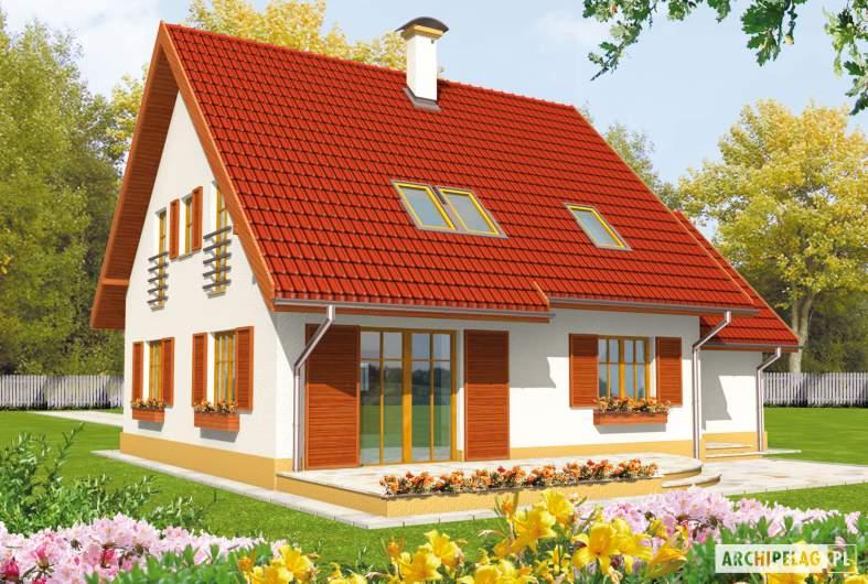 Projekt domu Lamia G1 - wizualizacja ogrodowa
