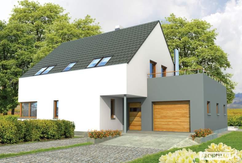 Projekt domu Igor G1 - wizualizacja frontowa
