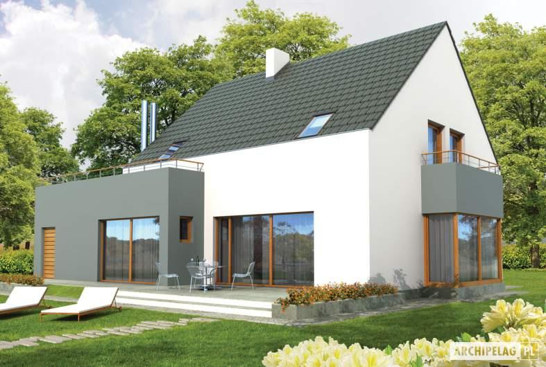 Projekt domu Igor G1 - wizualizacja ogrodowa