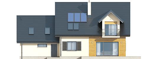 Marise II G2 ENERGO - Projekty domów ARCHIPELAG - Marisa II G2 ENERGO - elewacja tylna