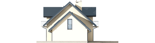Projekt domu Marisa II G2 ENERGO - elewacja prawa