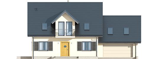 Marise II G2 ENERGO - Projekty domów ARCHIPELAG - Marisa II G2 ENERGO - elewacja frontowa