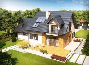 Namų projektai: su gyvenamąja palėpe