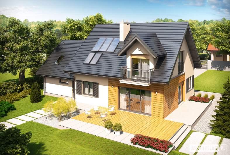 Projekt domu Marisa II G2 ENERGO - Projekty domów ARCHIPELAG - Marisa II G2 ENERGO - widok z góry