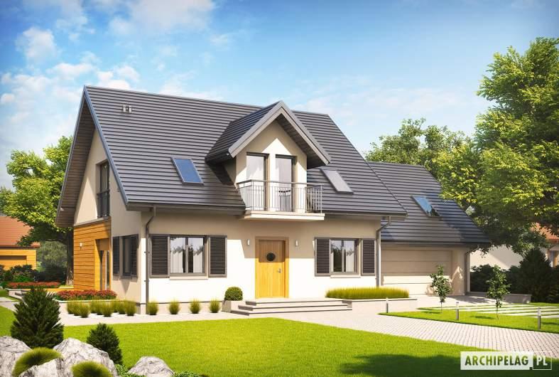 Projekt domu Marisa II G2 ENERGO - Projekty domów ARCHIPELAG - Marisa II G2 ENERGO - wizualizacja frontowa
