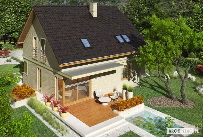 Projekt domu Jurek III G1 - widok z góry