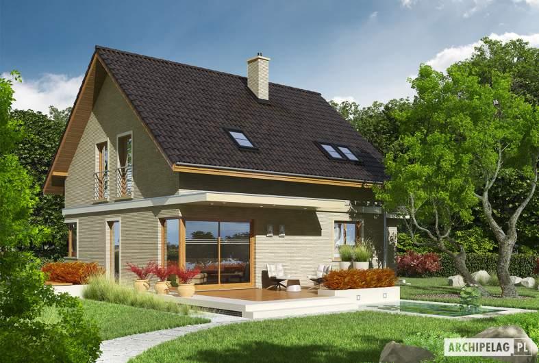 Projekt domu Jurek III G1 - wizualizacja ogrodowa