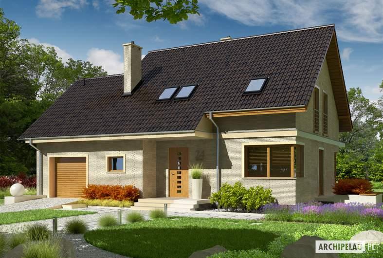 Projekt domu Jurek III G1 - wizualizacja frontowa
