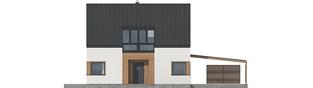 Projekt domu Neli W2 ENERGO PLUS - elewacja frontowa