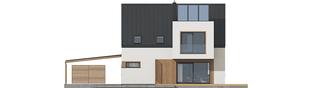 Projekt domu Neli W2 ENERGO PLUS - elewacja tylna