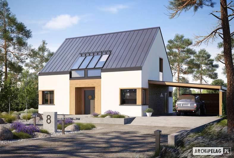 Projekt domu Neli W2 ENERGO PLUS - wizualizacja frontowa