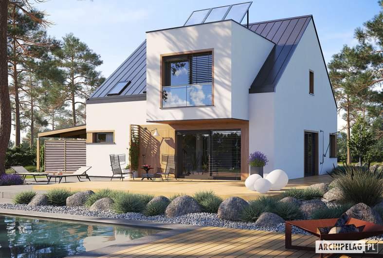 Projekt domu Neli W2 ENERGO PLUS - wizualizacja ogrodowa
