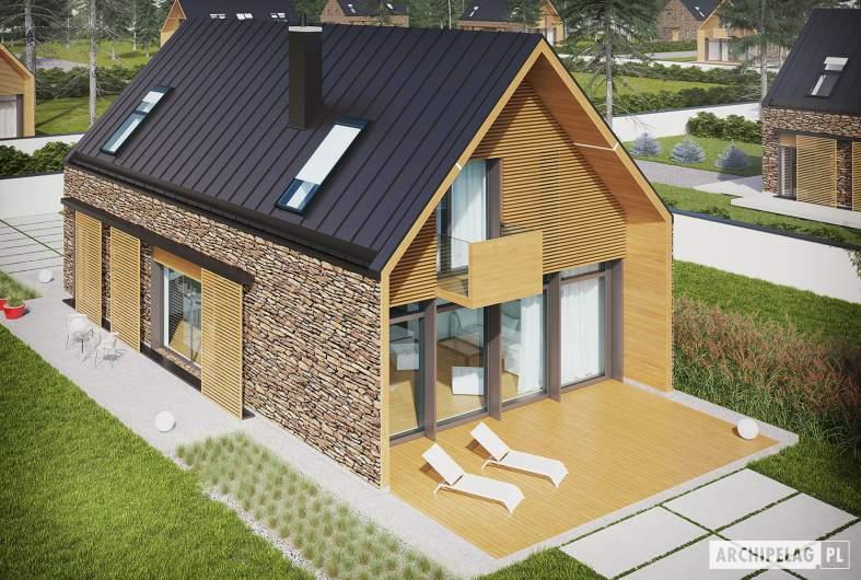 Projekt domu EX 15 II soft - wizualizacja ogrodowa widok z góry
