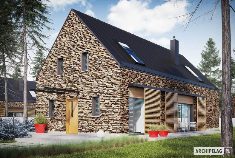 Projekt domu EX 15 II soft - wizualizacja frontowa