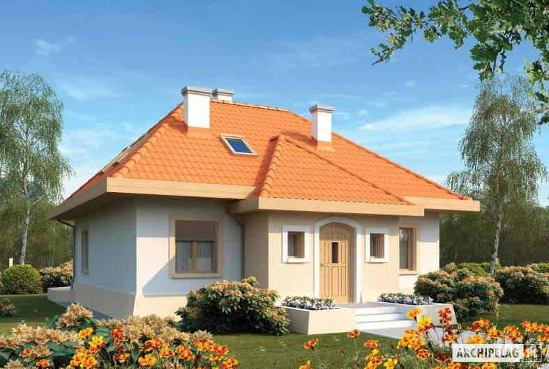 Projekt domu Celesta - wizualizacja frontowa