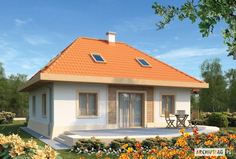 Projekt domu Celesta - wizualizacja ogrodowa