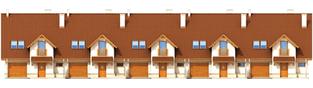 Projekt domu Sambor G1 - elewacja frontowa