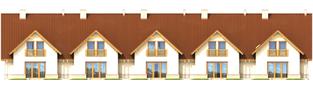 Projekt domu Sambor G1 - elewacja tylna
