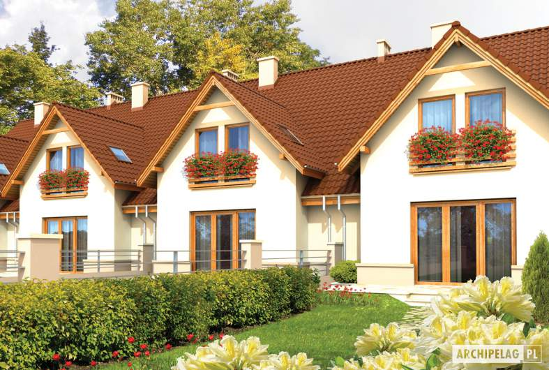Projekt domu Sambor G1 - wizualizacja ogrodowa