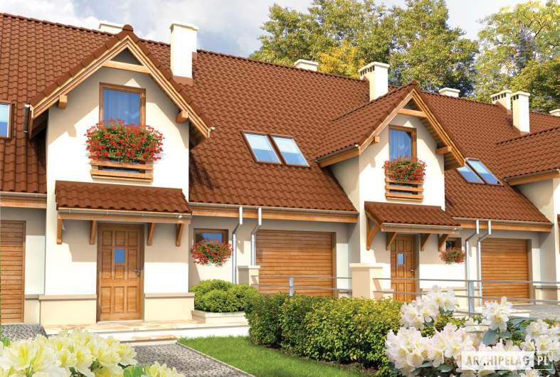 Projekt domu Sambor G1 - wizualizacja frontowa