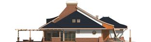 Projekt domu Zbigniew G2 - elewacja lewa