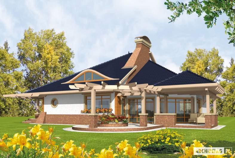 Projekt domu Zbigniew G2 - wizualizacja ogrodowa
