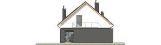 Projekt domu E14 G1 ECONOMIC - elewacja lewa
