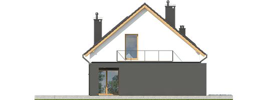 E14 G1 ECONOMIC - Projekt domu E14 G1 ECONOMIC - elewacja lewa