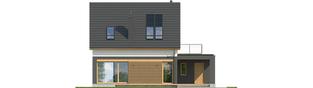 Projekt domu E14 G1 ECONOMIC - elewacja tylna