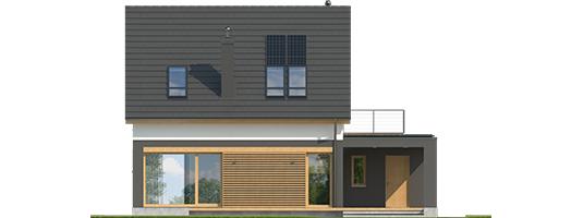 E14 G1 ECONOMIC - Projekt domu E14 G1 ECONOMIC - elewacja tylna