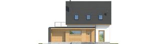 Projekt domu E14 G1 ECONOMIC - elewacja frontowa