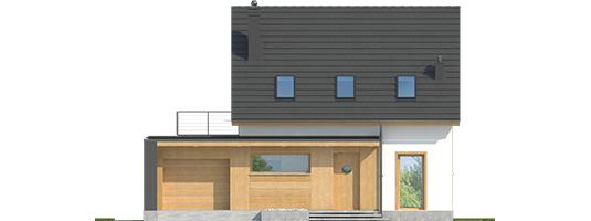 E14 G1 ECONOMIC - Projekt domu E14 G1 ECONOMIC - elewacja frontowa