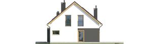 Projekt domu E14 G1 ECONOMIC - elewacja prawa