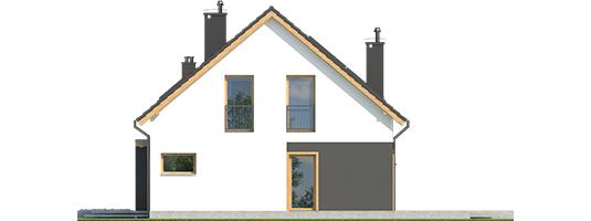 E14 G1 ECONOMIC - Projekt domu E14 G1 ECONOMIC - elewacja prawa