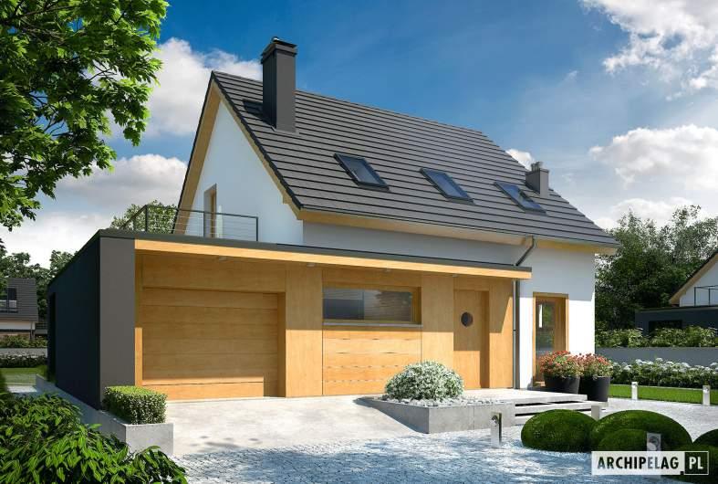Projekt domu E14 G1 ECONOMIC - wizualizacja frontowa