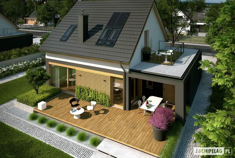 Projekt domu E14 G1 ECONOMIC - widik z góry