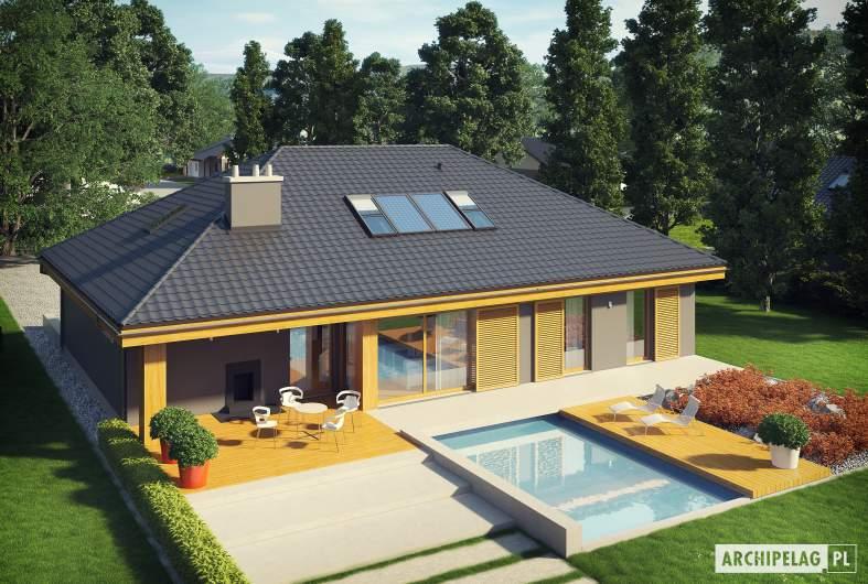 Projekt domu Gabriel G1 MULTI-COMFORT - widok z góry